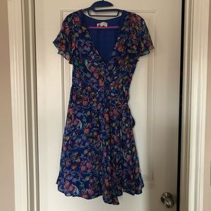 Anthropologie Floral Wrap Dress